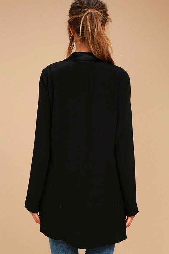 Only the Lucky Black Blazer 4