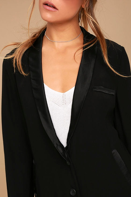 Only the Lucky Black Blazer 5