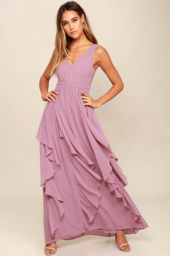9634f870279 Lovely Mauve Dress - Maxi Dress - Bridesmaid Dress -  92.00
