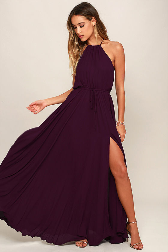 Essence of Style Plum Purple Maxi Dress 1