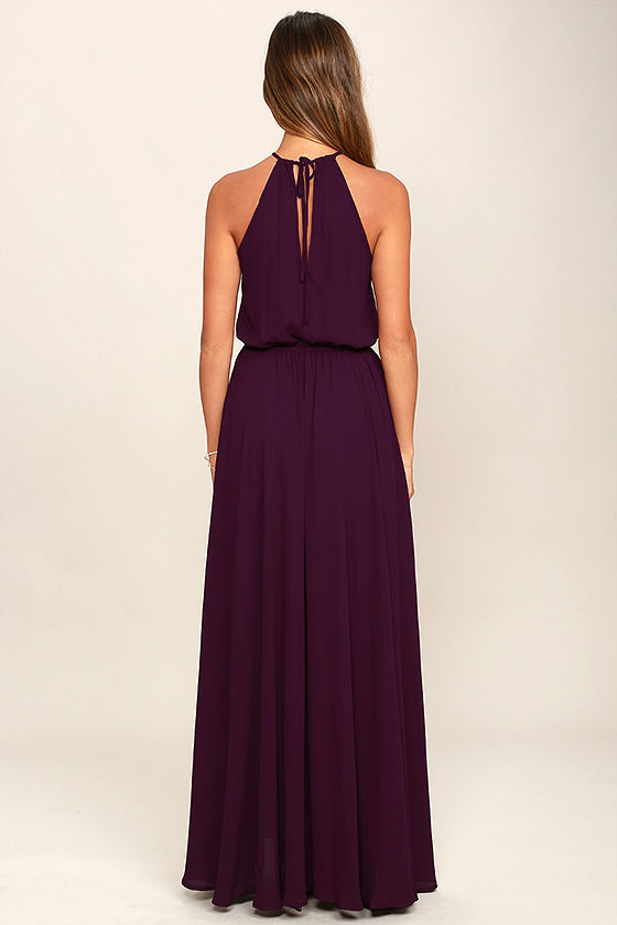Essence of Style Plum Purple Maxi Dress 4