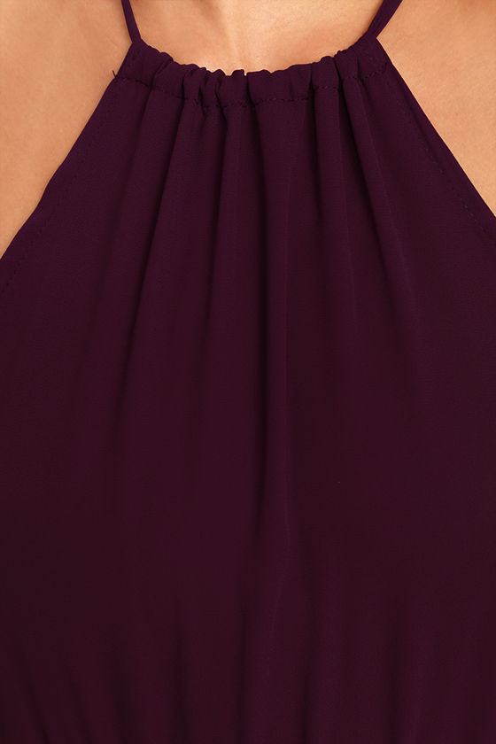 Essence of Style Plum Purple Maxi Dress 6