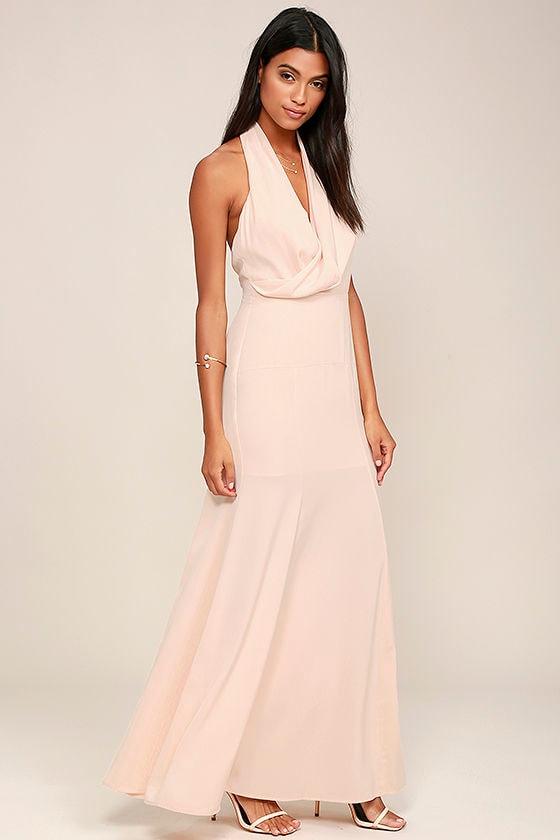 Keepsake Escape Dress - Light Peach Dress - Maxi Dress - Gown