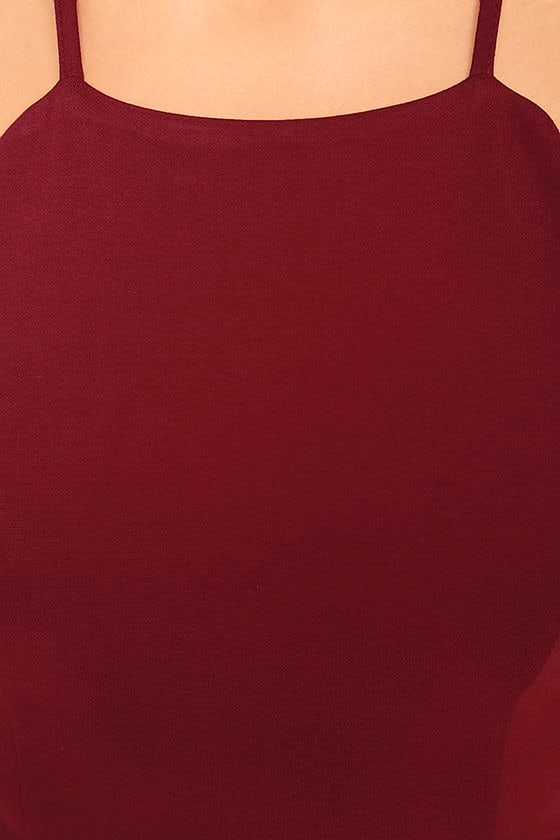 Heart's Content Wine Red Bodycon Dress 6