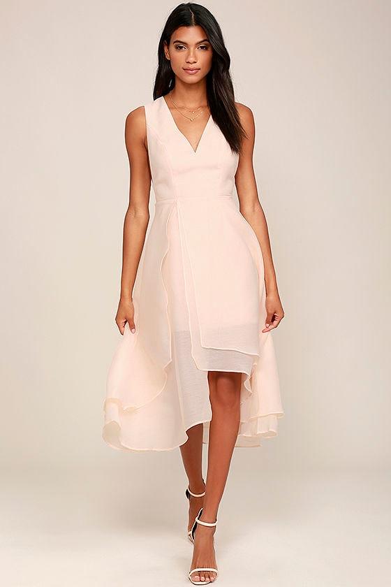 Keepsake All Yours Dress - Light Peach Dress - Midi Dress - High ...