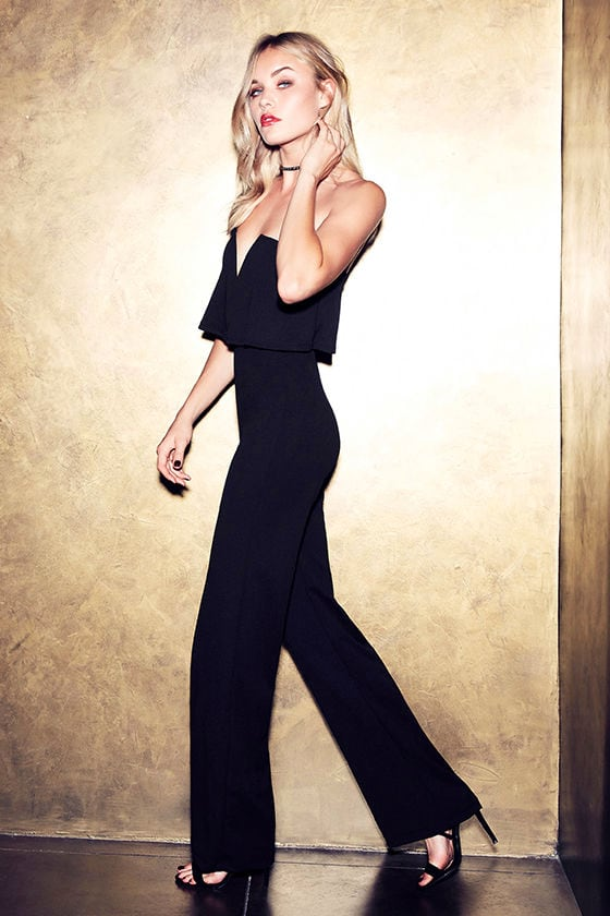 03f95a9c6c Sexy Black Jumpsuit - Strapless Jumpsuit - Wide Leg Jumpsuit