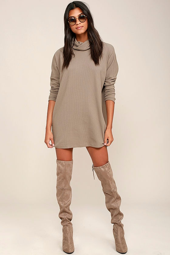 Scheme of Things Taupe Long Sleeve Dress 3