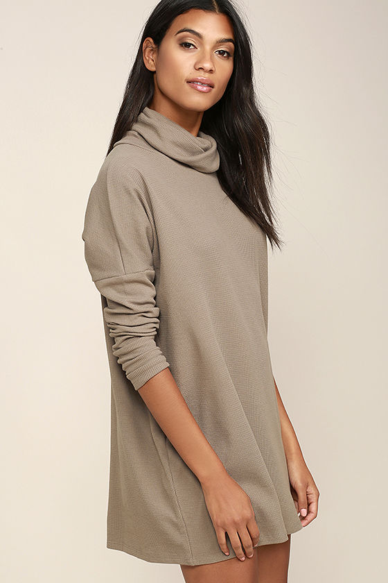 Scheme of Things Taupe Long Sleeve Dress 4