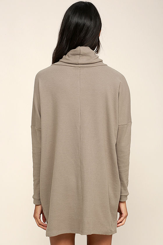 Scheme of Things Taupe Long Sleeve Dress 5
