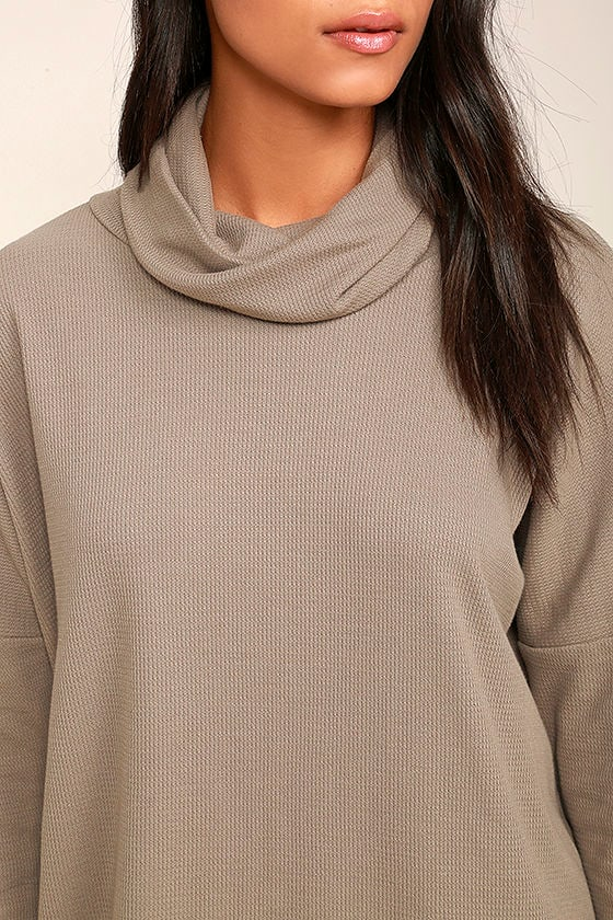 Scheme of Things Taupe Long Sleeve Dress 6