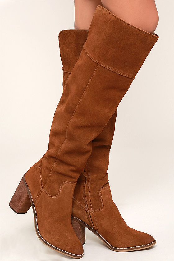 e09080d015c Steve Madden Palisade - Suede Leather Boots - Knee High Boots