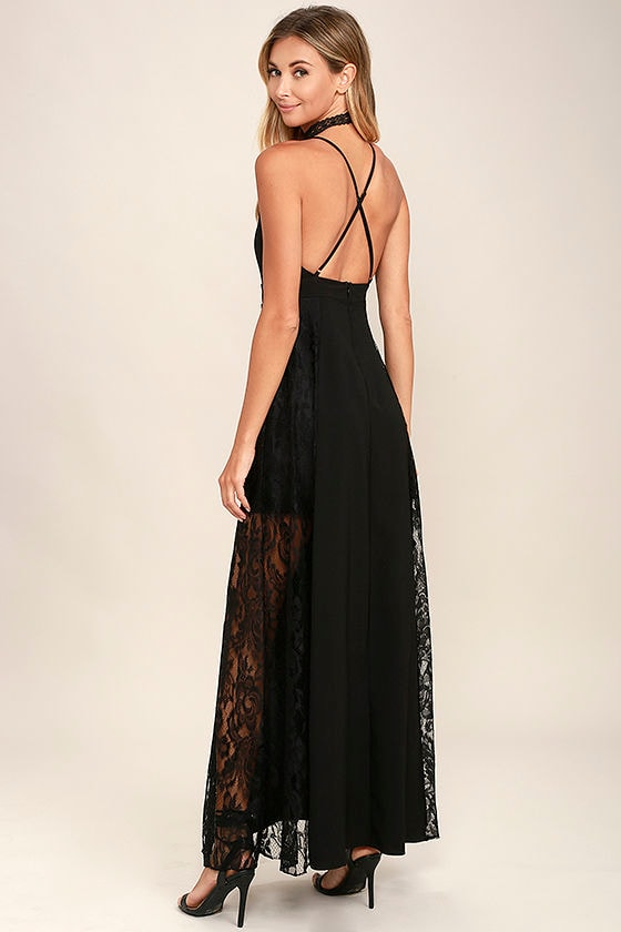 Lovely Black Maxi Dress - Lace Maxi Dress - Black Lace Dress - $79.00