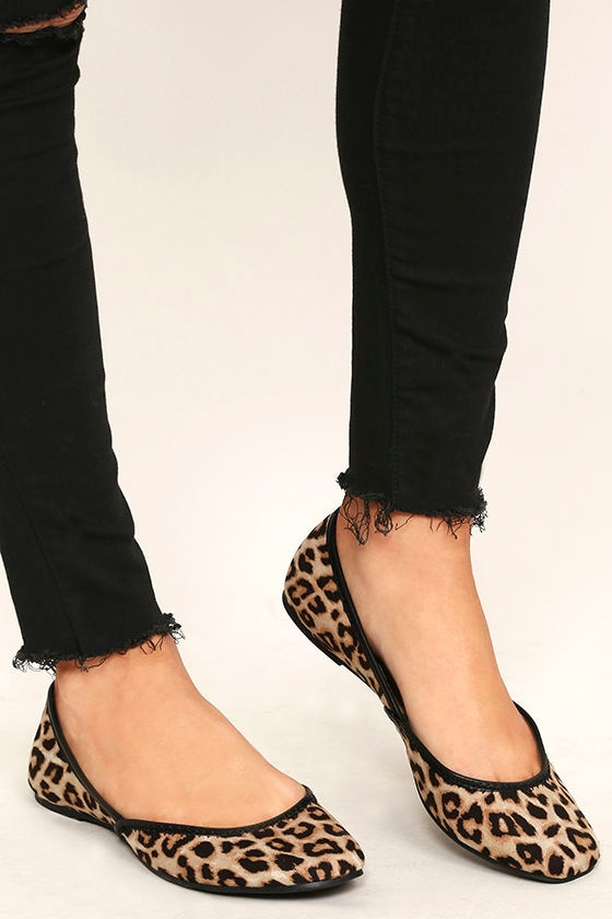 Excited to be Here Camel Leopard Suede Flats 2