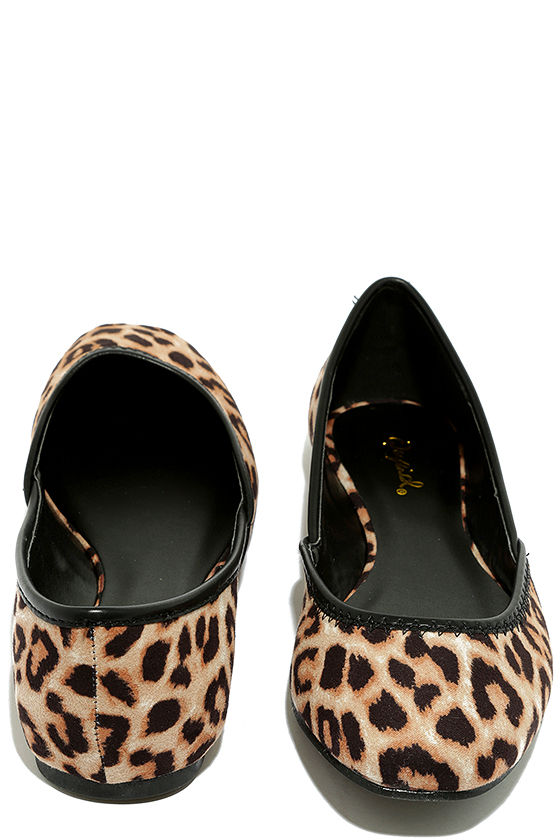 Excited to be Here Camel Leopard Suede Flats 3