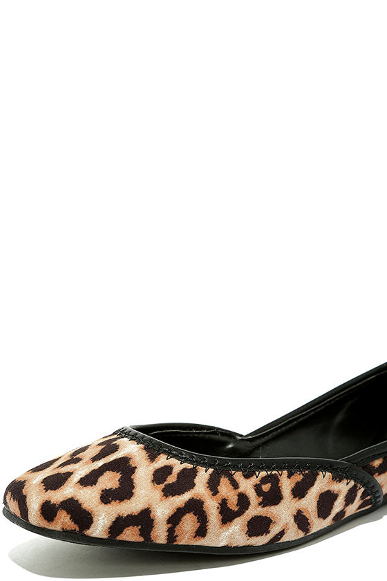 Excited to be Here Camel Leopard Suede Flats 6