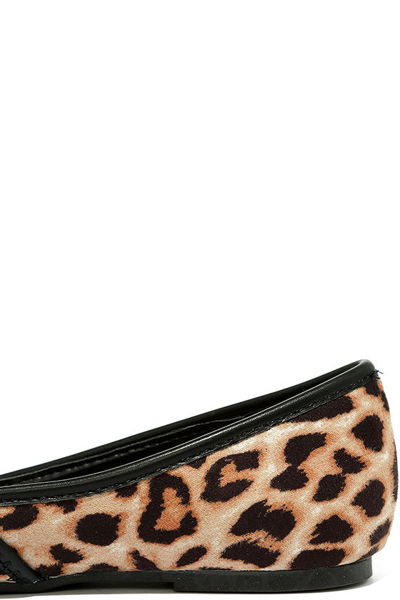Excited to be Here Camel Leopard Suede Flats 7