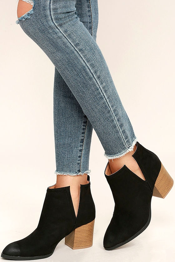 Come Out on Top Black Suede Ankle Booties 2