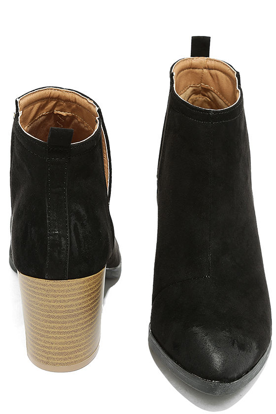 Come Out on Top Black Suede Ankle Booties 3