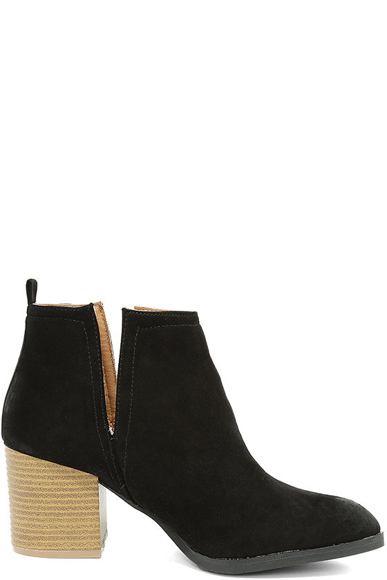 Come Out on Top Black Suede Ankle Booties 4