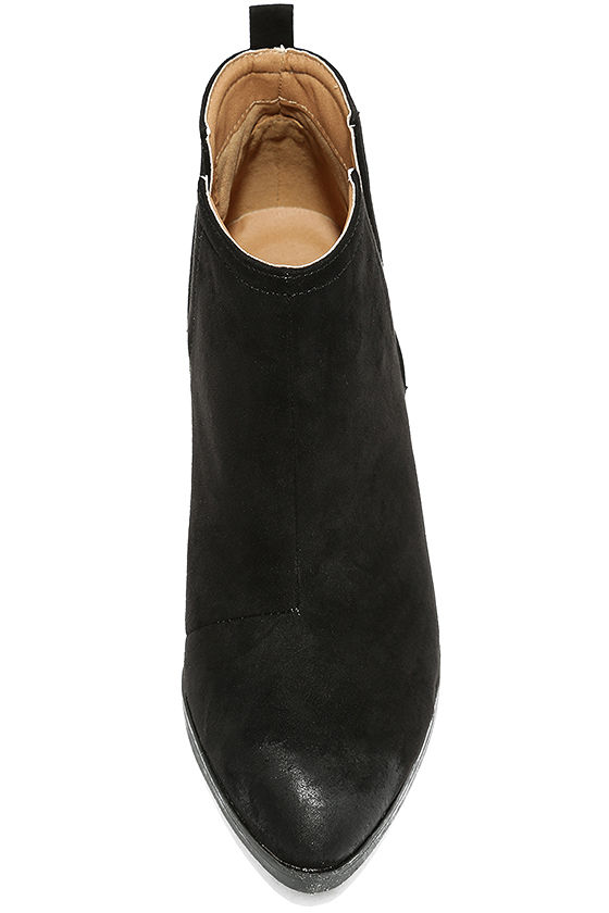 Come Out on Top Black Suede Ankle Booties 5