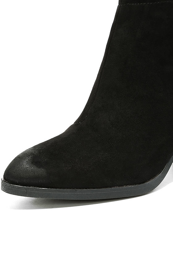 Come Out on Top Black Suede Ankle Booties 6