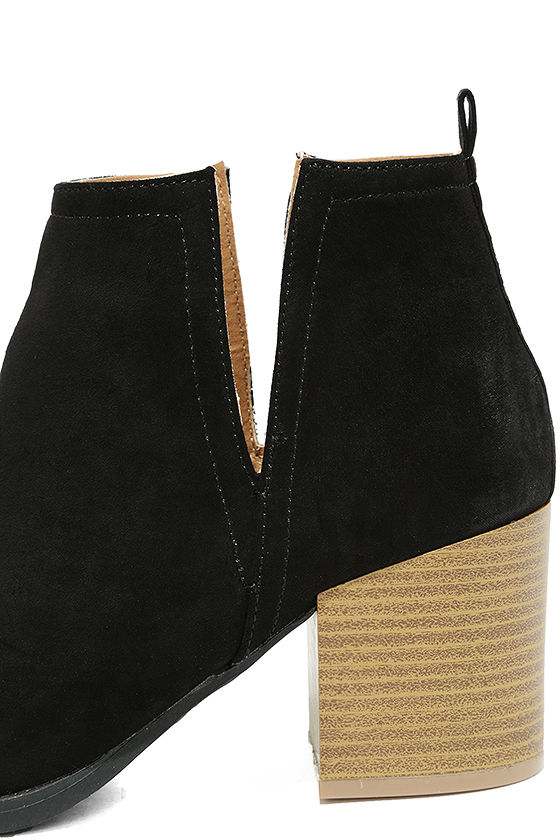Come Out on Top Black Suede Ankle Booties 7