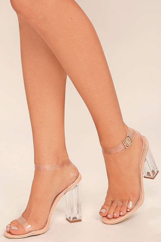 sexy clear heels lucite heels block heels. Black Bedroom Furniture Sets. Home Design Ideas