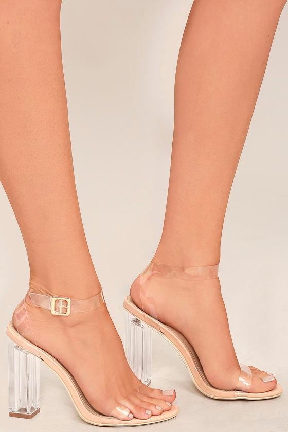 Sexy Clear Heels - Lucite Heels - Block Heels - 4500-4459
