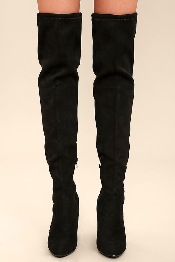 Sexy Over the Knee Boots - Vegan Suede Boots - High Heel Boots ...