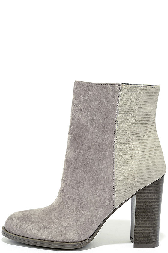 Circus by Sam Edelman Rollins Grey Frost Suede Booties 1