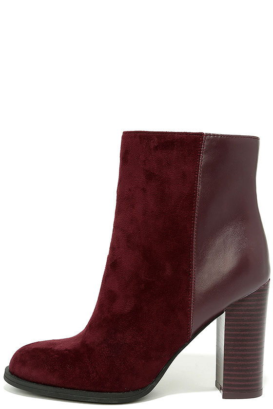 31b6a7bc9 Circus by Sam Edelman Rollins - Burgundy Booties - Mid-Calf Booties -  81.00