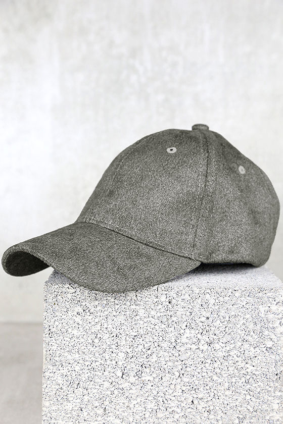 Chic Grey Baseball Cap - Vegan Suede Baseball Cap - Ball Cap -  15.00 00b42e42734d