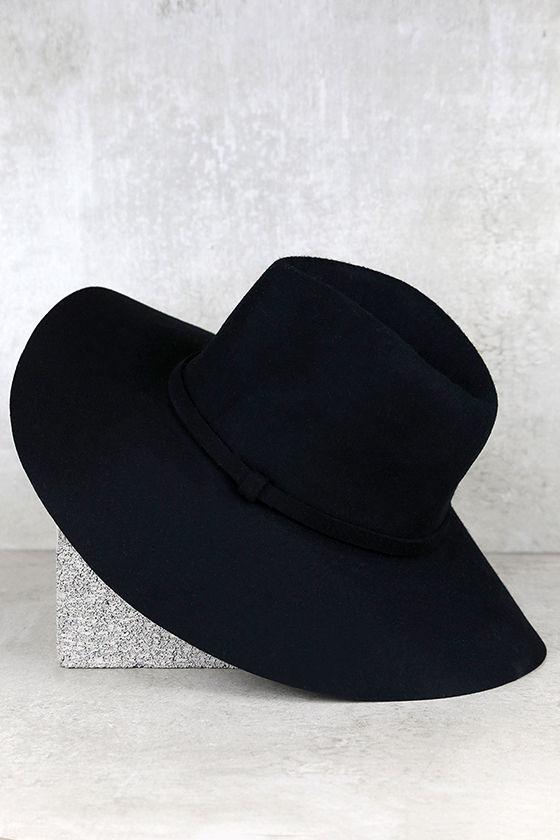 Wishing on a Star Black Fedora Hat 3