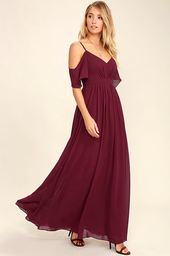 58f2a98607 Stunning Maxi Dress - Gown - Wine Red Dress - Formal Dress -  84.00