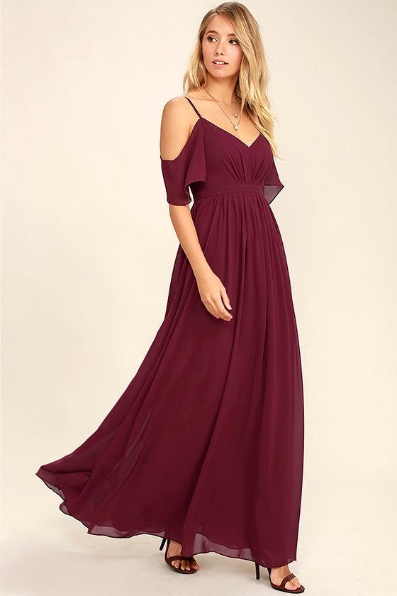 Ways of Desire Wine Red Maxi Dress 1