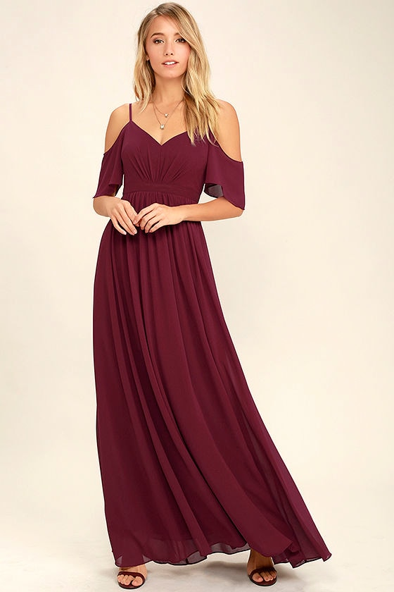 Ways of Desire Wine Red Maxi Dress 2