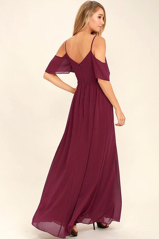 Ways of Desire Wine Red Maxi Dress 3