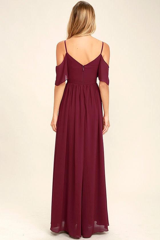 Ways of Desire Wine Red Maxi Dress 4