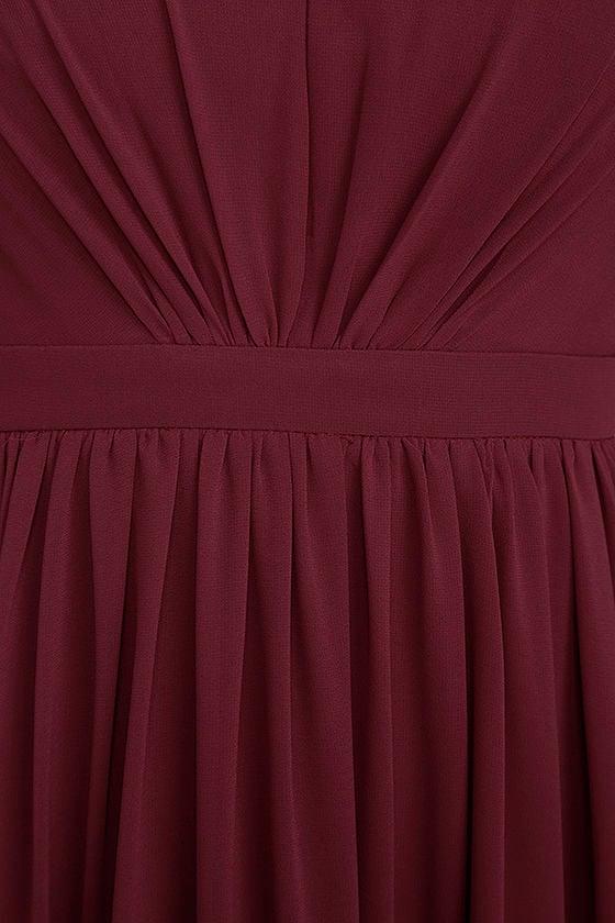 Ways of Desire Wine Red Maxi Dress 6