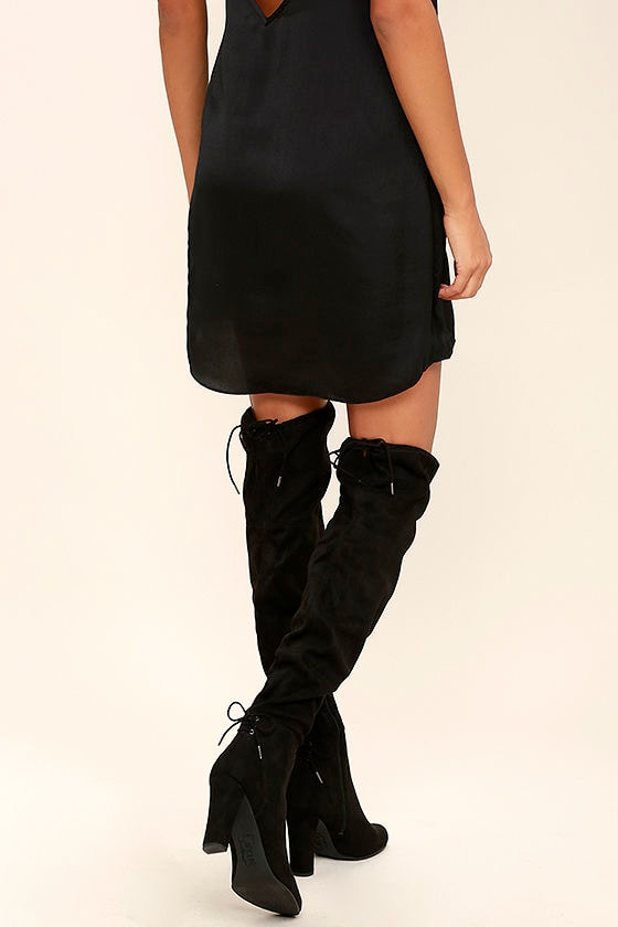 5c2139706 Sexy Black Over the Knee Boots - Suede OTK Boots - Tall Black Boots