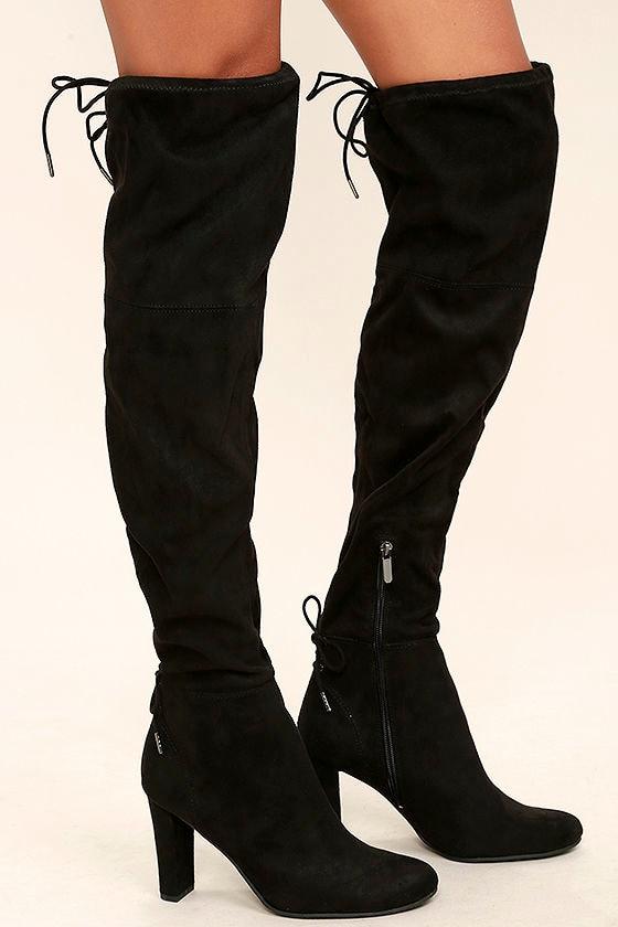 Circus by Sam Edelman Jasmine Black Over the Knee Boots 4