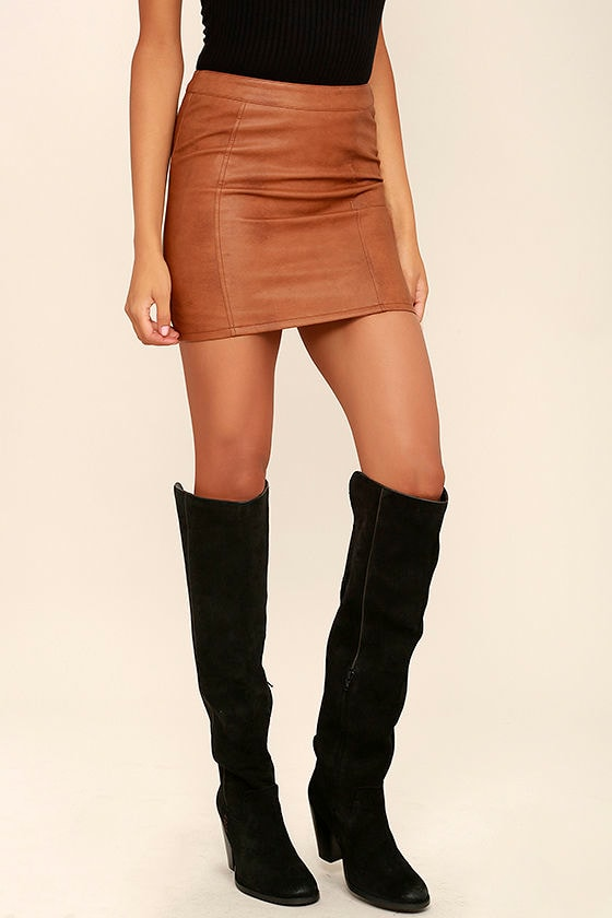 Mia Nigel Black Suede Leather Knee High Boots 1