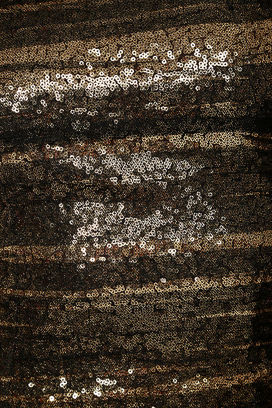 Feeling Alive Gold and Black Sequin Dress 6
