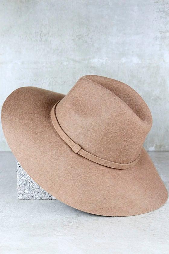 Boho Tan Hat - Wool Hat - Fedora Hat -  29.00 f1e8a590698