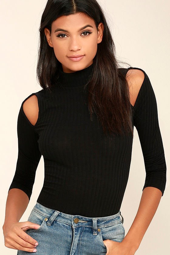 Touch the Sky Black Long Sleeve Top 1