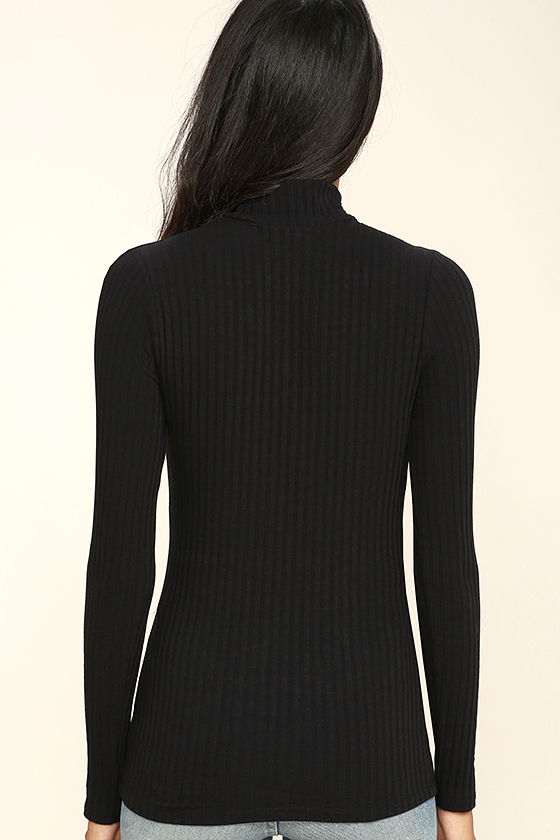 Touch the Sky Black Long Sleeve Top 4