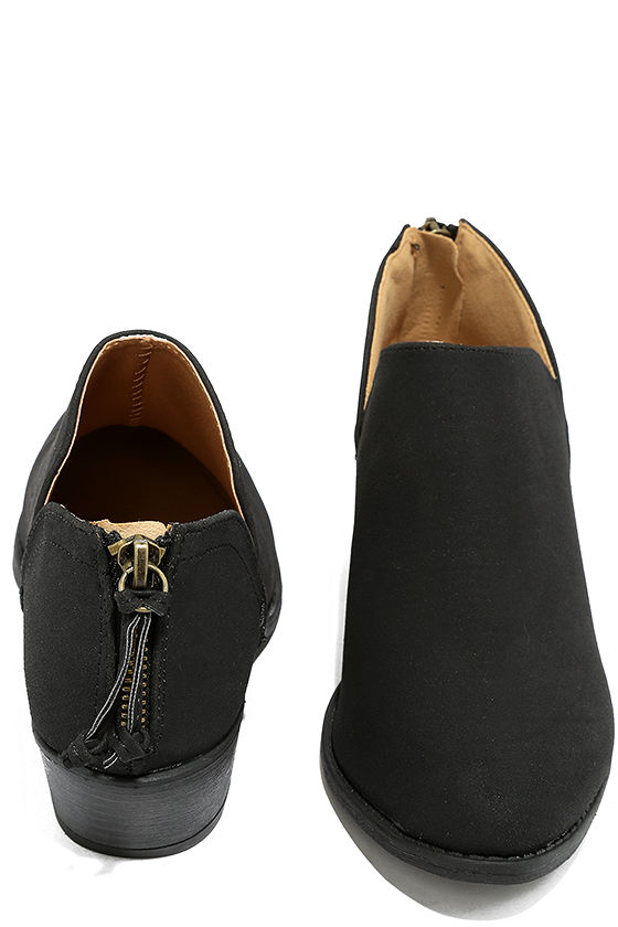 Stands Apart Black Nubuck Ankle Booties 3