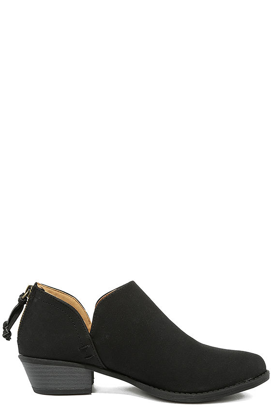 Stands Apart Black Nubuck Ankle Booties 4