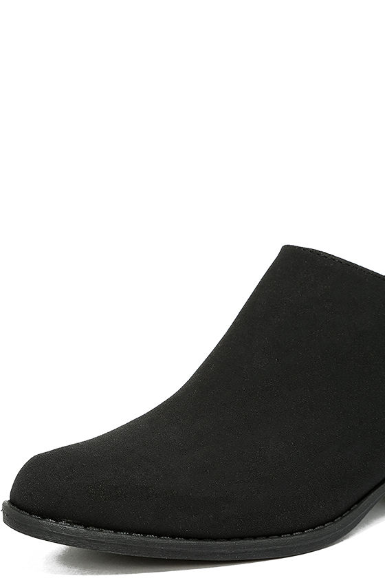 Stands Apart Black Nubuck Ankle Booties 6