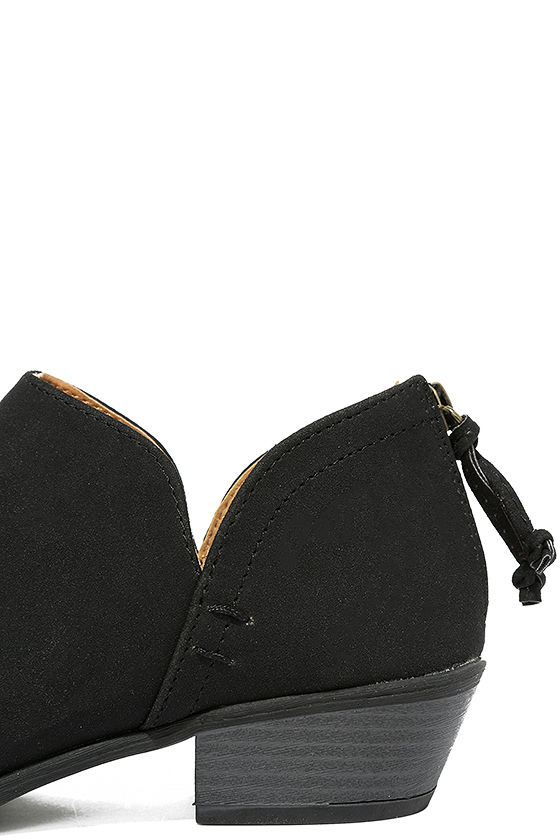 Stands Apart Black Nubuck Ankle Booties 7